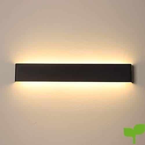 JAYMP Lámpara de pared Interior 24W Moderna Apliques de Pared Blanco Cálido,Moda Agradable Luz de Ambiente perfecto para Lámpara de Decoración para,AC85-265V, Longitud 55cm, [Clase de eficiencia energética A++]