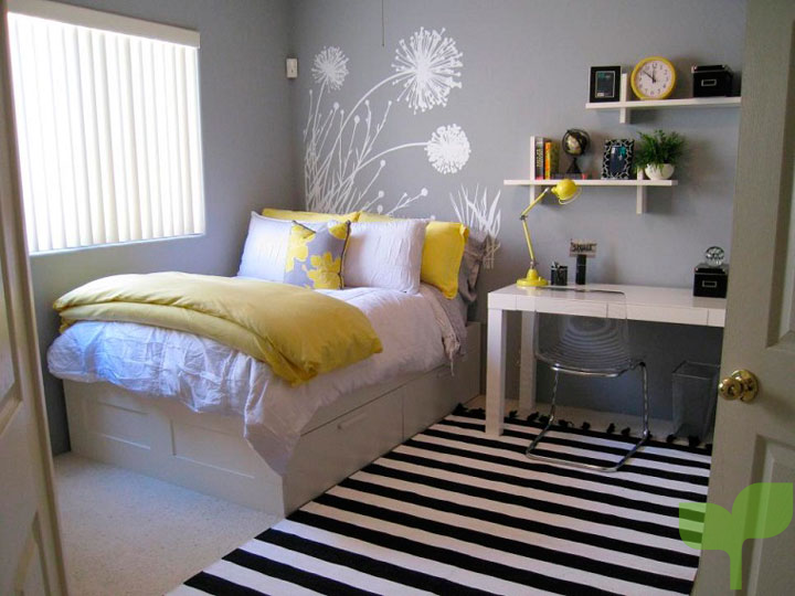 la cama - Ideas para decorar una habitación juvenil