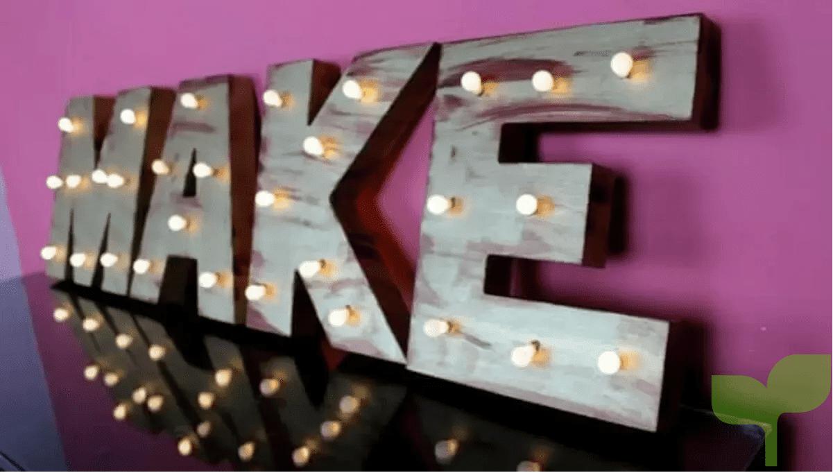 letras con luz - Ideas para decorar letras de madera