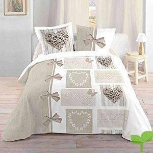 Lovely Casa 'Ropa de Cama Heart 240x 260cm + 2assortierter Almohada 63x 63cm 100% algodón