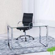 mesa de estudio benetto xl cristal transparente y cromado medidas 120 cm x 60 x 75 de altura 180x180 - Listado de páginas de nuestro sitio web