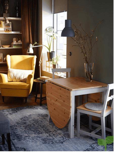 mesas desplegables 2 - Cómo decorar un salón pequeño