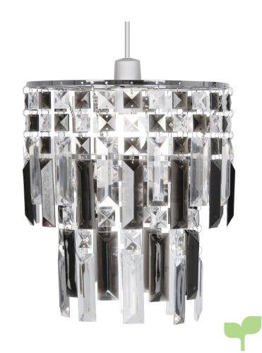 Oaks Lighting Maia – Lámpara de techo (estructura de cromo con láminas de acrílico), color gris y transparente