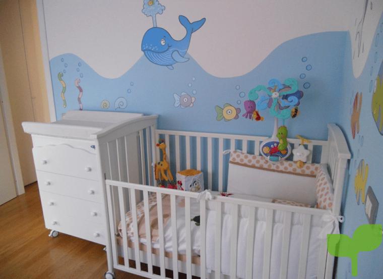 Objetos adicionales para realzar la decoración de la habitación del bebé