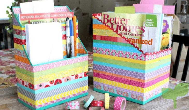 organizadores con cajas de carton 1 - Ideas para decorar con cajas