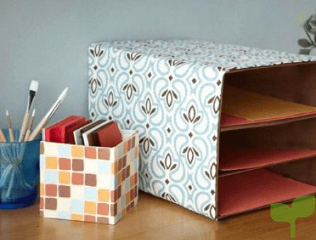 organizadores con cajas de carton 2 - Ideas para decorar con cajas