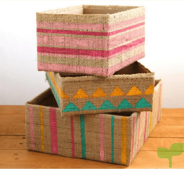 organizadores con cajas de carton 5 - Ideas para decorar con cajas