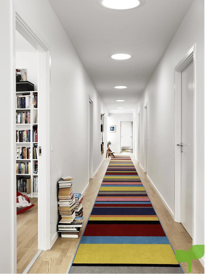 pasillo con alfombra - Ideas para decorar pasillos