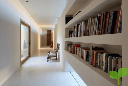 pasillo con biblioteca - Ideas para decorar pasillos
