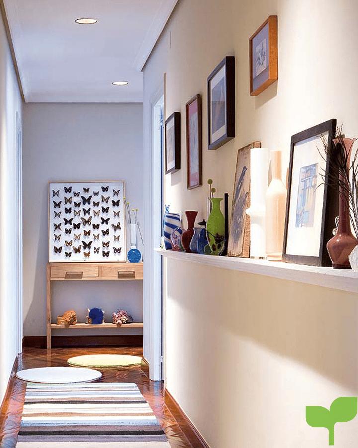 pasillo con cuadros - Ideas para decorar pasillos