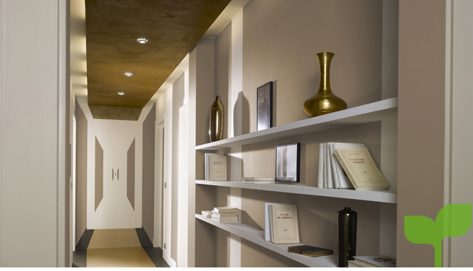 pasillos con estantes - Ideas para decorar pasillos