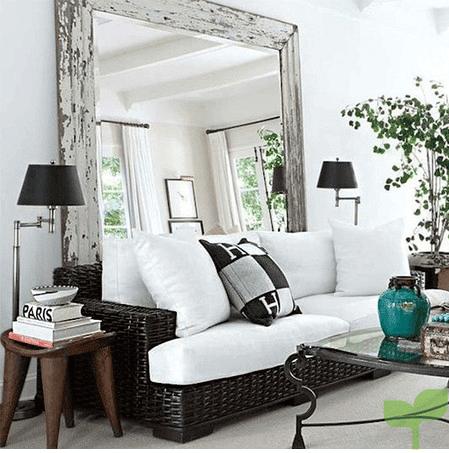 salones con espejos grandes - Cómo decorar un salón pequeño