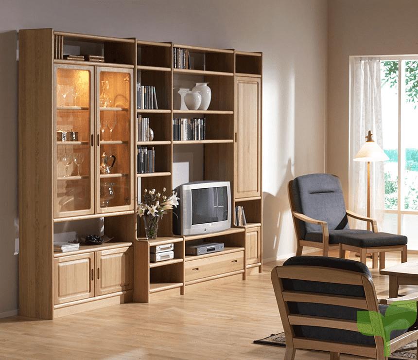 salones con estantes 1 - Cómo decorar un salón pequeño