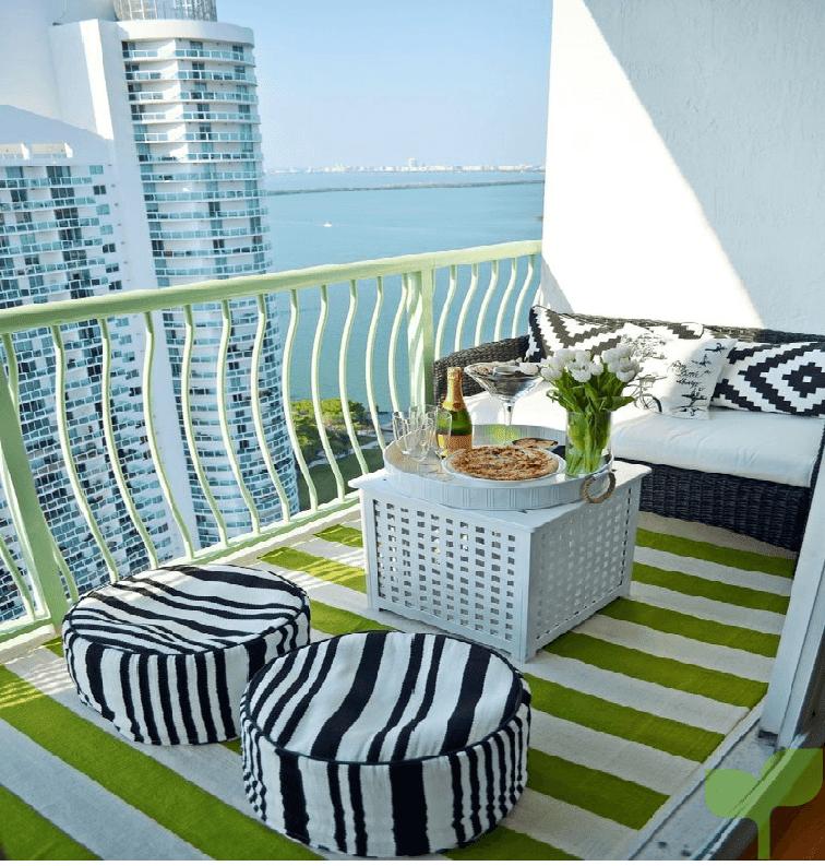 terraza con detalles 1 - Ideas para decorar terrazas pequeñas