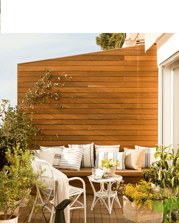 terraza con separación - Ideas para decorar terrazas pequeñas