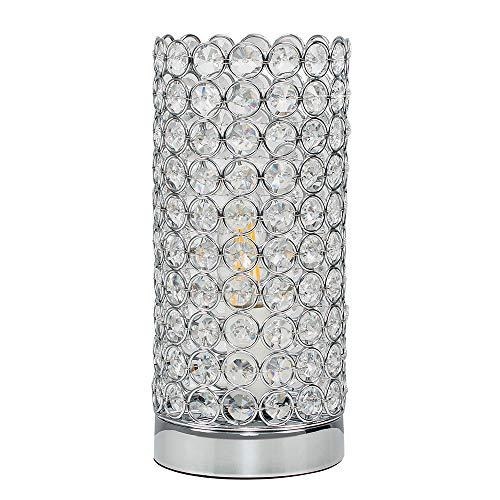 MiniSun – Lámpara moderna de mesa táctil 'Ducy' – auténtico cristal K9 de especial brillo