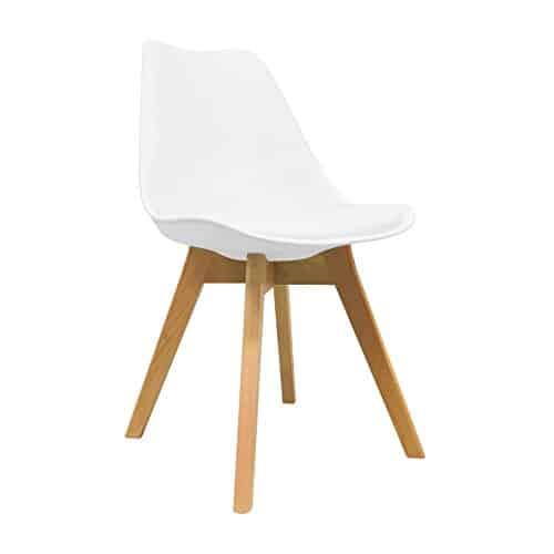 Silla Nórdica – Silla escandinava One Blanca – silla nordic scandi inspirada en silla eames dsw – Mona – (Elige tu color)