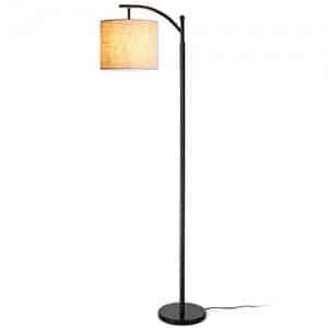 Zanflare Lámpara de pie para salón. Lámpara de pie con pantalla colgante, Lámpara para Dormitorio, Oficina, Lámpara de salón de larga duración(Bombilla E27 incluida)