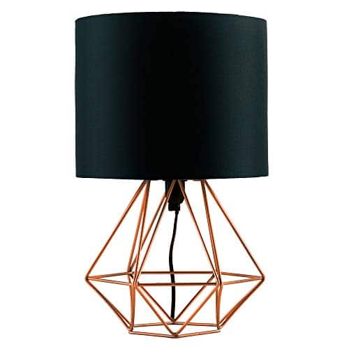 MiniSun – Moderna lámpara de mesa 'Angus', con innovadora base de estilo jaula