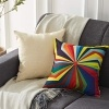 Top finel colorido geométrico algodón lino fundas de cojín para sofá almohadas Home decorativo juego de 6, 45x45cm,Serie