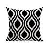 HuifengS New Living Series Funda de cojín para sofá, cama o sofá, diseño geométrico, 45 x 45 cm, 4 unidades