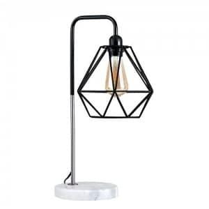 MiniSun – Lámpara de mesa moderna 'Talismán' – con innovadora pantalla de diseño de jaula, base de mármol y sabor vintage