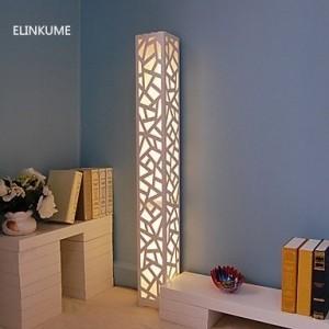 ELINKUME 1PCS Llevó Lámpara de Pie Blanco Cálido Estilo Moderno PVC Madera Plástico Placa Interruptor de Pedal AC220V Interior perfecto Luces decorativas para Sala de Estar, Habitación