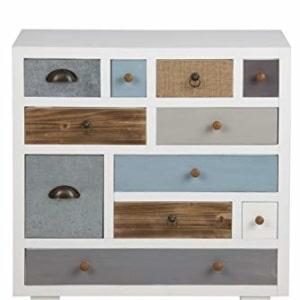 AC Design Furniture 63374 Suwen–Cómoda con cajones multicolores, Blanco