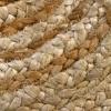 HAMID Alfombra Yute Alhambra Color Natural Redonda – Alfombra 100% Fibra de Yute (100x100cm)