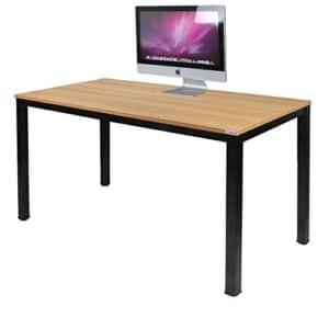 Need Escritorios 120x60cm Mesa de Ordenador Escritorio de Oficina Mesa de Estudio Puesto de trabajo Mesa de Despacho, teca Roble Color