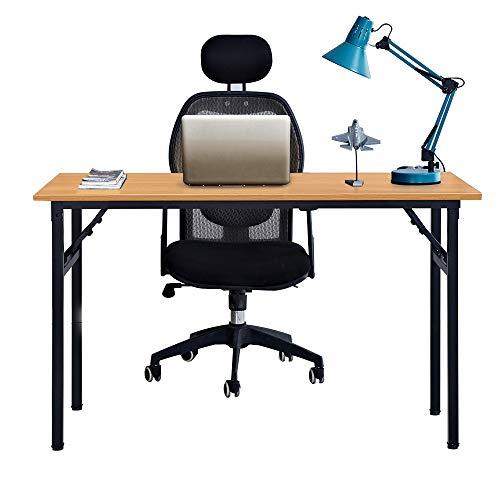 Need Mesa Plegable 120x60cm Mesa de Ordenador Escritorio de Oficina Mesa de Estudio Puesto de trabajo Mesas de Recepción Mesa de Formación, Teca Roble Color