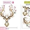 'pared sticker4u de pared XL «en primavera Blühende ciervo para pared de cabeza de ciervo Animales Reno con flores y pájaros, 97x 81, decoración para salón gästezimmer Piso Gross