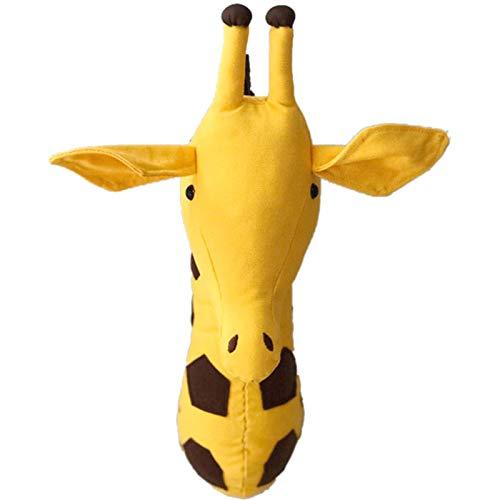 SODIAL Pared de Cabeza de Animal en 3D Colgante de Pared Lindo Juguetes Escultura de Pared de Animales para Ni?os Habitación – Jirafa