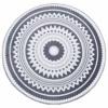 JUSTDOLIFE Alfombra del Piso Decorativo Antideslizante Redondo Geométrico Alfombra Alfombra De La Puerta para La Decoración