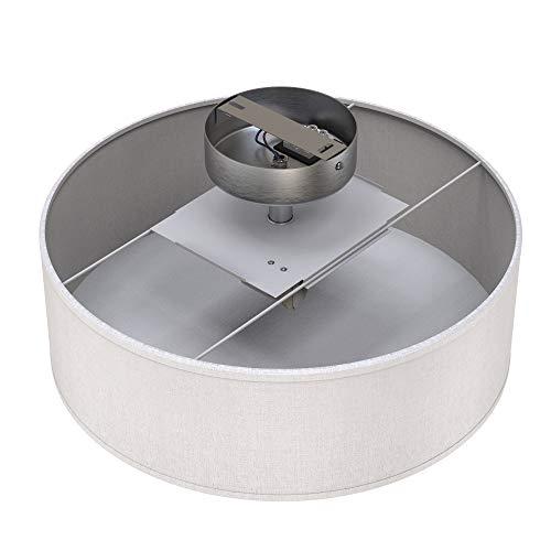 di/ámetro de 30 cm 30cm 40 vatios Briloner Leuchten L/ámpara de techo W Grau-satin pantalla de tela 1 x E27 m/áx color: gris satinado