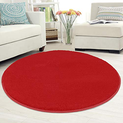 lulalula Alfombra Circular para salón o Dormitorio con diseño (círculo de 100 cm de diámetro)