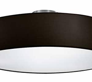Trio Lighting 603900302 Lámpara de techo Stoffschirm Schwarz, Negro, 50 cm