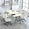 Yaheetech Silla Taburete Giratorio Altura Ajustable Carga Max 120Kg para Oficina Trabajo